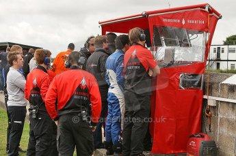 © Octane Photographic 2010. British F3 – Thruxton . Raikkonen Robertson pitwall. 7th August 2010. Digital Ref : CB1D8210