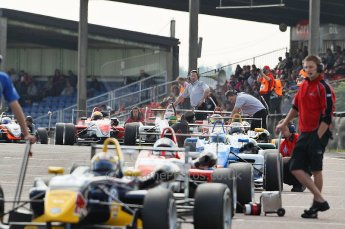 © Octane Photographic 2010. British F3 – Thruxton . Starting grid. 8th August 2010. Digital Ref : CB1D9378