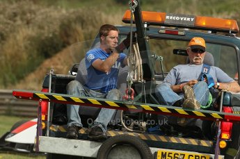 © Octane Photographic 2010. British F3 – Thruxton . Thruxton recovery crew. 8th August 2010. Digital Ref : CB1D9570