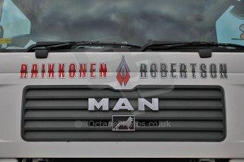 © Octane Photographic 2010. British F3 – Thruxton . 7th August 2010. Raikkonen Robertson transporter. Digital Ref : CB5D3717