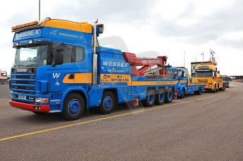 © Octane Photographic 2010. British F3 – Thruxton . Thruxton recovery trucks (truck racing weekend). 8th August 2010. Digital Ref :
