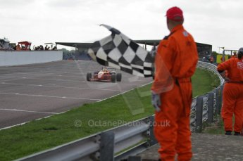 © Octane Photographic 2010. British F3 – Thruxton . James Cole taking teh checkered flag - T-Sport. 8th August 2010. Digital Ref : CB7D8821