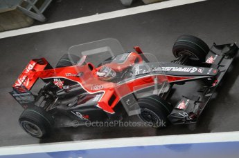 © Octane Photographic 2010. 2010 F1 Belgian Grand Prix, Friday August 27th 2010. Virgin VR-01 Timo Glock. Digital Ref : 0030CB1D0217