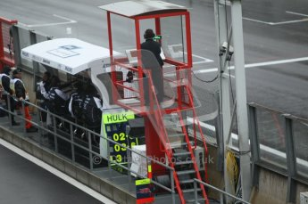 © Octane Photographic 2010. 2010 F1 Belgian Grand Prix, Friday August 27th 2010. Williams pitwall and start control. Digital Ref : 0030CB1D0541