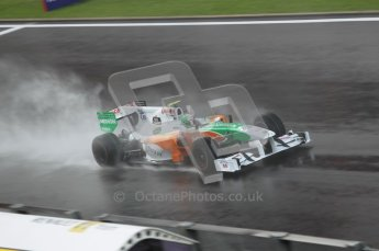 © Octane Photographic 2010. 2010 F1 Belgian Grand Prix, Friday August 27th 2010. Force India VJM03 - Vitantonio Liuzzi. Digital Ref : 0030CB1D0731