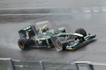 © Octane Photographic 2010. 2010 F1 Belgian Grand Prix, Friday August 27th 2010. Lotus T127 - Heikki Kovalainen. Digital Ref : CB1D0835