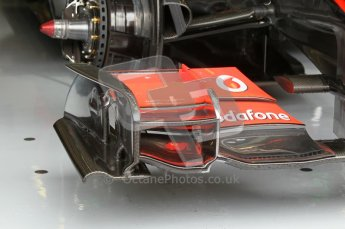© Octane Photographic 2010. 2010 F1 Belgian Grand Prix, Friday August 27th 2010. McLaren MP4/25 front wing. Digital Ref : 0030CB1D1112