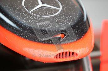 © Octane Photographic 2010. 2010 F1 Belgian Grand Prix, Friday August 27th 2010. McLaren nosecone. Digital Ref : 0030CB1D1113