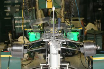 © Octane Photographic 2010. 2010 F1 Belgian Grand Prix, Friday August 27th 2010. Lotus Garage - T127. Digital Ref : 0030CB1D1150