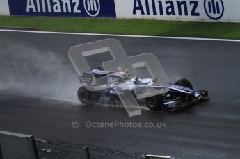 © Octane Photographic 2010. 2010 F1 Belgian Grand Prix, Friday August 27th 2010. Williams FW32 - Rubens Barrichello. Digital Ref : LW7D0101