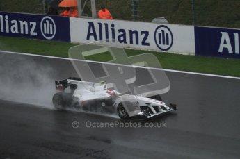 © Octane Photographic 2010. 2010 F1 Belgian Grand Prix, Friday August 27th 2010. Sauber C29 - Kamui Kobayashi. Digital Ref : 0030LW7D9701