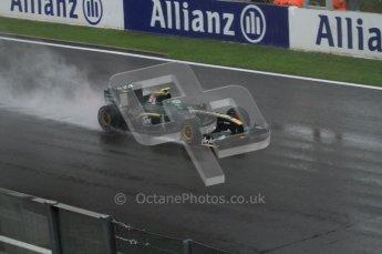 © Octane Photographic 2010. 2010 F1 Belgian Grand Prix, Friday August 27th 2010. Lotus T127 - Heikki Kovalainen. Digital Ref : 0030LW7D9763