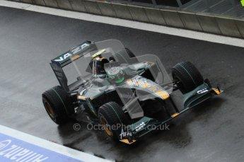 © Octane Photographic 2010. 2010 F1 Belgian Grand Prix, Friday August 27th 2010. Lotus T127 - Heikki Kovalainen. Digital Ref : 0030LW7D9824