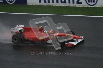 © Octane Photographic 2010. 2010 F1 Belgian Grand Prix, Friday August 27th 2010. Ferrari F10 - Fernando Alonso. Digital Ref : 0030LW7D9847