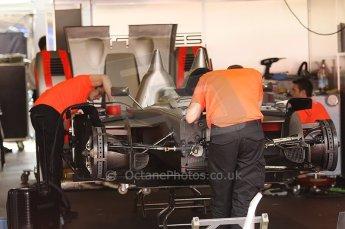 2010 Le Mans 24 Hour (24 Heures du Mans), 11th June 2010. Kolles - Audi R10 TDI garage. Digital ref : CB1D2079