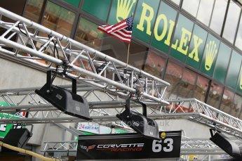 2010 Le Mans 24 Hour (24 Heures du Mans), 11th June 2010. Corvette Racing garage. Digital ref : CB1D2113
