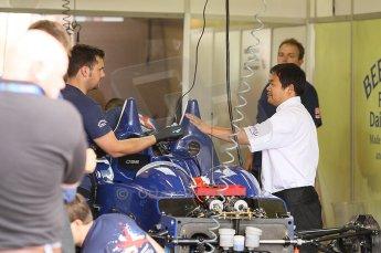 2010 Le Mans 24 Hour (24 Heures du Mans), 11th June 2010. Beechdean Mansell - Ginetta-Zytek 09S garage. Digital ref : CB1D2136