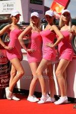 2010 Le Mans 24 Hour (24 Heures du Mans), 11th June 2010. Drivers' parade, Oak racing girls. Digital ref : CB1D2274