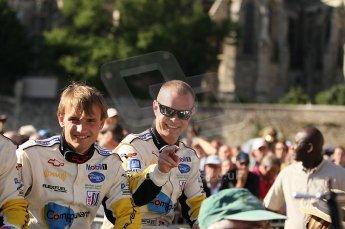 2010 Le Mans 24 Hour (24 Heures du Mans), 11th June 2010. Drivers' parade. Corvette Racing - Antonio Garcia, Jan Magnussen. Digital ref : CB1D2404