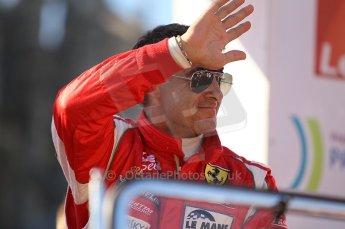 2010 Le Mans 24 Hour (24 Heures du Mans), 11th June 2010. Drivers' parade. AF Corse SRL - Jean Alesi. Digital ref : CB1D2687