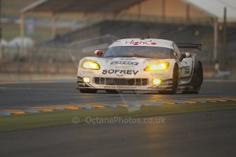 2010 Le Mans, Sunday June 13th 2010. Dunlop Chicane at dawn. Digital Ref : CB1D5179
