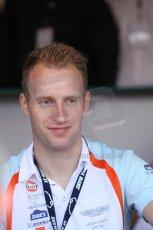 2010 Le Mans 24 Hour (24 Heures du Mans), 11th June 2010. Stefan Mucke in the Aston Martin paddock. Digital ref : CB1D2204