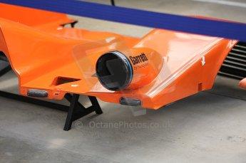 2010 Le Mans 24 Hour (24 Heures du Mans), 11th June 2010. Michael Lewis Autocon - Lolo B06/10-AER garage. Digital ref : LW40D2190