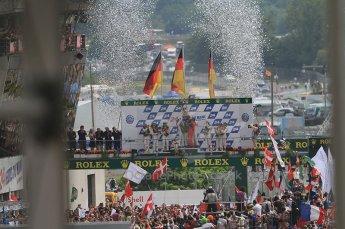 2010 Le Mans, Sunday June 13th 2010. LMP1 Podium. Digital Ref : CB7D5978