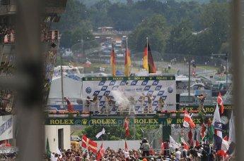 2010 Le Mans, Sunday June 13th 2010. LMP1 Podium. Digital Ref : CB7D6008