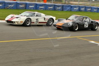 © Octane Photographic Ltd. 2010 Masters Racing - Donington September 4th 2010. Sports Racing Masters. Ford GT40 Mk.I - Adrian Newey, Chevron B8 - Paul Ingram/Chris Chiles Jnr. Digital Ref : cb1d3520