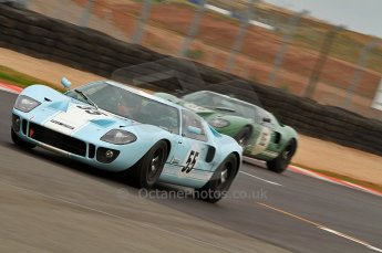 © Octane Photographic Ltd. 2010 Masters Racing - Donington September 4th 2010. Sports Racing Masters. Ford GT40 Mk.I - Chris Bunscombe/Alex Bunscombe, Ford GT40 Mk.I - David Foresby/Andrew Newall. Digital Ref : CB7D6308