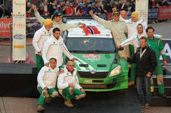 © North One Sport Limited 2010/ Octane Photographic Ltd. 2010 WRC Great Britain Podium, Sunday 14th November 2010. Digital ref : 0114LW1D1023