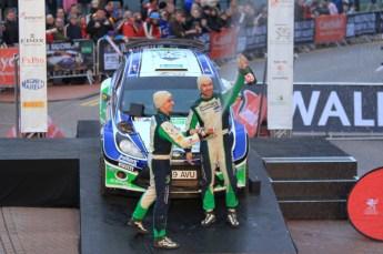 © North One Sport Limited 2010/ Octane Photographic Ltd. 2010 WRC Great Britain Podium, Sunday 14th November 2010. Digital ref : 0114LW1D1066