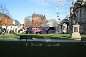 World © Octane Photographic 2010. 2010 Red Bull City Limits street demo Belfast, David Coulthard. Digital ref : 0027CB1D3858