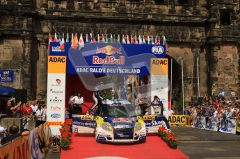 © North One Sport Ltd. 2010 / Octane Photographic Ltd. 2010 WRC Germany Podium, 23st August 2010. Digital Ref: 0212lw7d8430