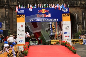 © North One Sport Ltd. 2010 / Octane Photographic Ltd. 2010 WRC Germany Podium, 23st August 2010. Digital Ref: 0212lw7d8803