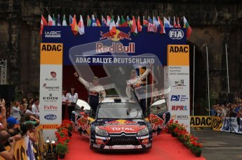 © North One Sport Ltd. 2010 / Octane Photographic Ltd. 2010 WRC Germany Podium, 23st August 2010. Digital Ref: 0212lw7d8969