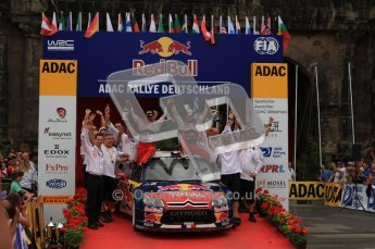 © North One Sport Ltd. 2010 / Octane Photographic Ltd. 2010 WRC Germany Podium, 23st August 2010. Digital Ref: 0212lw7d9274