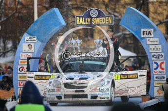 © North One Sport Ltd.2010 / Octane Photographic Ltd.2010. WRC Sweden Podium, February 14th 2010. Digital Ref : 0138CB1D3023