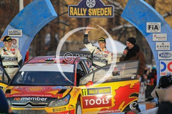 © North One Sport Ltd.2010 / Octane Photographic Ltd.2010. WRC Sweden Podium, February 14th 2010. Digital Ref : 0138CB1D3060