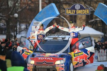 © North One Sport Ltd.2010 / Octane Photographic Ltd.2010. WRC Sweden Podium, February 14th 2010. Digital Ref : 0138CB1D3113