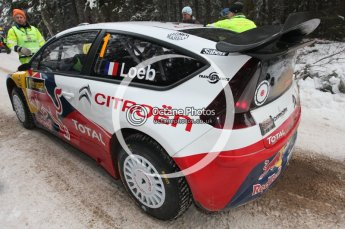 © North One Sport Ltd.2010 / Octane Photographic Ltd.2010. WRC Sweden shakedown stage. February 11th 2010, Sebastien Loeb/Daniel Elena, Citroen C4 WRC. Digital Ref : 0129CB1D1231