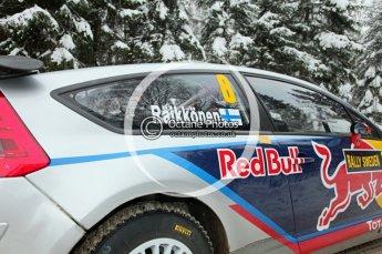 © North One Sport Ltd.2010 / Octane Photographic Ltd.2010. WRC Sweden shakedown stage. February 11th 2010, Kimi Raikkonen/Kaj Lindstrom, Citroen C4 WRC. Digital Ref : 0129CB1D1246