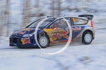 © North One Sport Ltd.2010 / Octane Photographic Ltd.2010. WRC Sweden SS21 February 14th 2010, Kimi Raikkonen/Kaj Lindstrom, Citroen C4 WRC. Digital Ref : 0137CB1D2789
