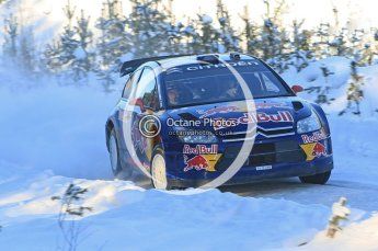 © North One Sport Ltd.2010 / Octane Photographic Ltd.2010. WRC Sweden SS5. February 12th 2010, Kimi Raikkonen/Kaj Lindstrom, Citroen C4 WRC. Digital Ref : 0132CB1D1894
