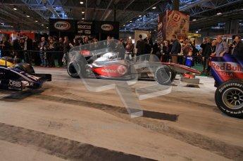 © Octane Photographic Ltd. Autosport International 2011, January 15th 2011. F1 Racing display, McLaren showcar. Digital ref : 0045CB7D2855