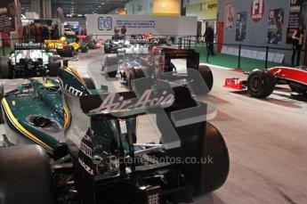 © Octane Photographic Ltd. Autosport International 2011, January 15th 2011. F1 Racing display, Lotus showcar. Digital ref : 0045f1-display-3