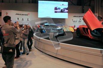 World © Octane Photographic 2010. © Octane Photographic 2011. Autosport International 2011. McLaren Display. Digital ref : 0026CB1D5203