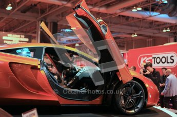 World © Octane Photographic 2010. © Octane Photographic 2011. Autosport International 2011. McLaren display. MP4/12C. Digital ref : 0026CB1D5203