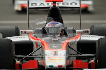 © Octane Photographic Ltd. 2011. Belgian Formula 1 GP, GP2 Race 2 - Sunday 28th August 2011. Fabio Leimer of Team Rapax looking in his mirror looking for who is following him. Digital Ref : 0205cb1d0031
